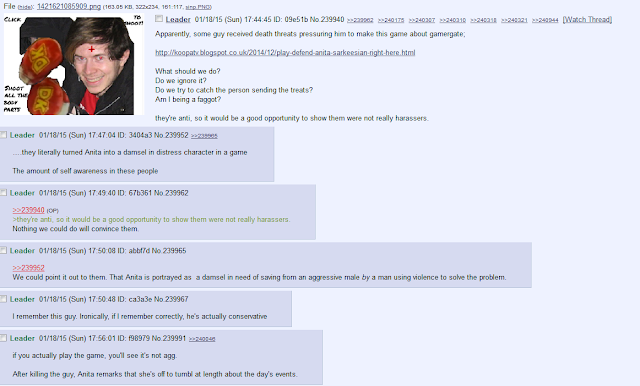 8chan 8ch Defend Anita Sarkeesian game reaction thread Bendilin gamergate