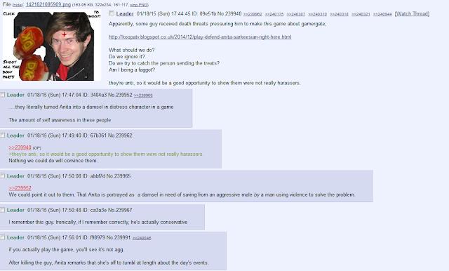 8chan 8ch Defend Anita Sarkeesian game reaction thread Bendilin gamergate