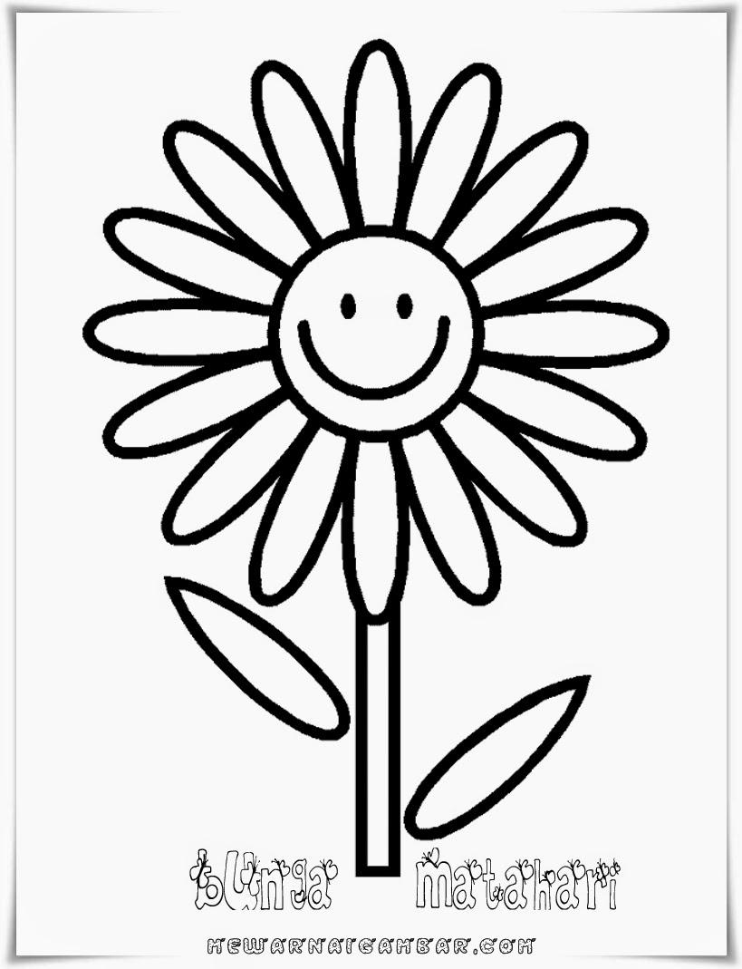 Gambar Bunga Matahari Untuk Anak Tk Pickini