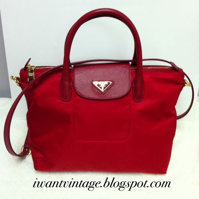 6f1b72d210c I Want Vintage | Vintage Designer Handbags: Prada Tessuto Saffiano ...