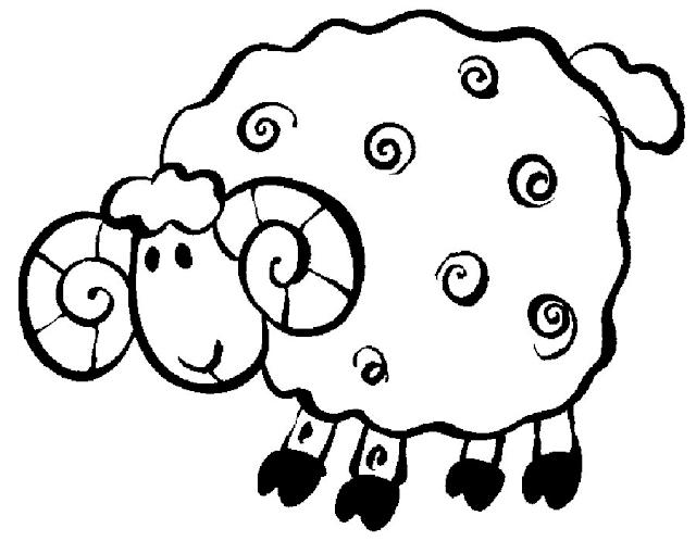 Gambar Mewarnai Domba - 6