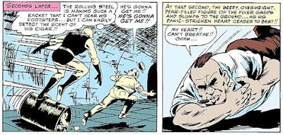 Daredevil #1, the Fixer dies, heart attack