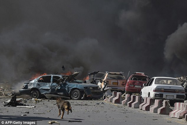 Daily Mail - At least 80 are dead and 350 injured in massive suicide car bomb attack near British, US, French and German embassies in Kabul