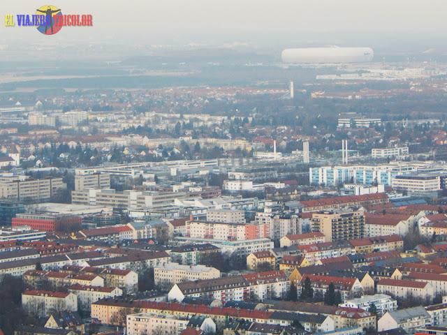Vistas de Munich desde la Torre Olímpica