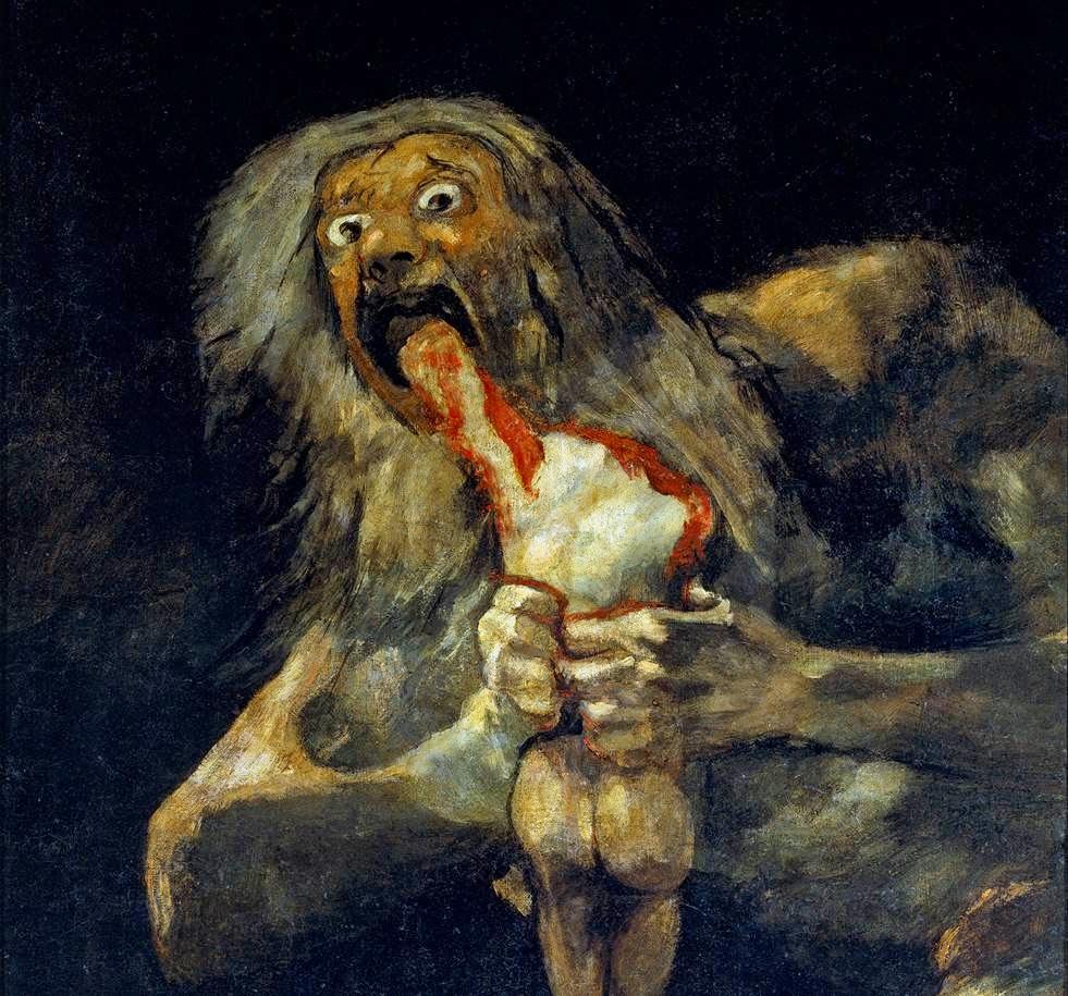 Historia Del Arte Temas Imágenes Y Comentario Goya Saturno Devorando A Un Hijo
