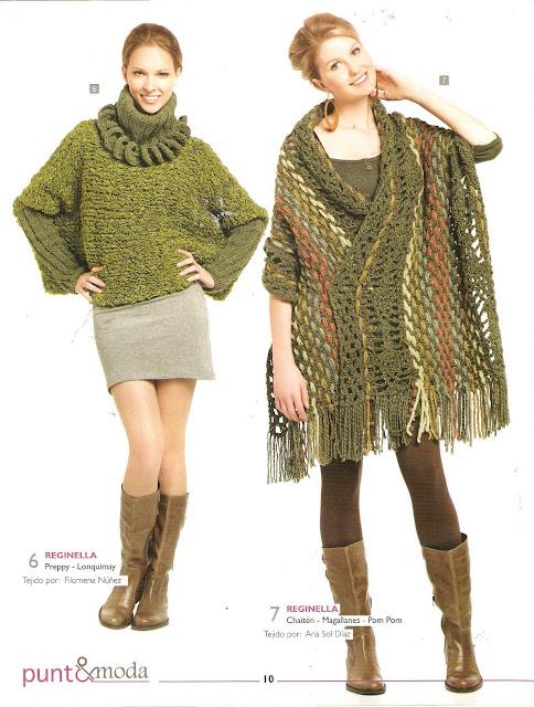 Jersey y poncho conjuntos y tonos