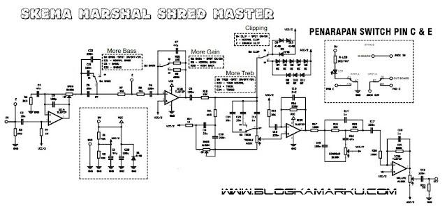 Membuat efek gitar listrik Clone marshal shred Master