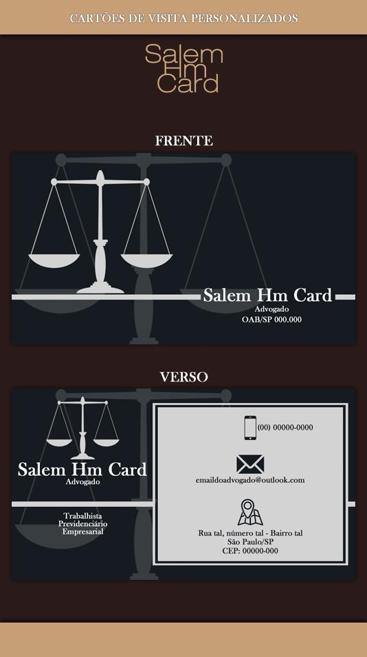 Cartão de Visita - Modelo 1 - Advogado