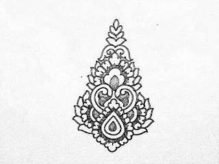 Draw all over butta khaka design for hand embroidery saree design