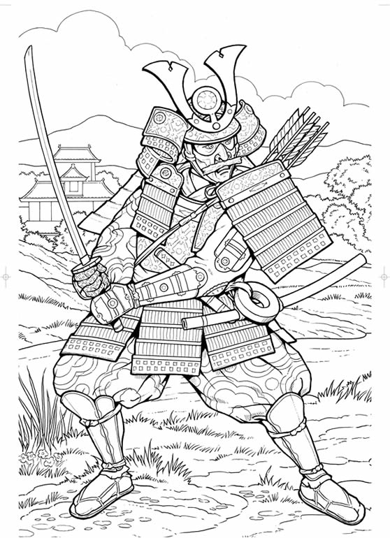 coloring pages of a samurai warrior | inkspired musings: Japan Poems, Culture, Paperdolls and ...