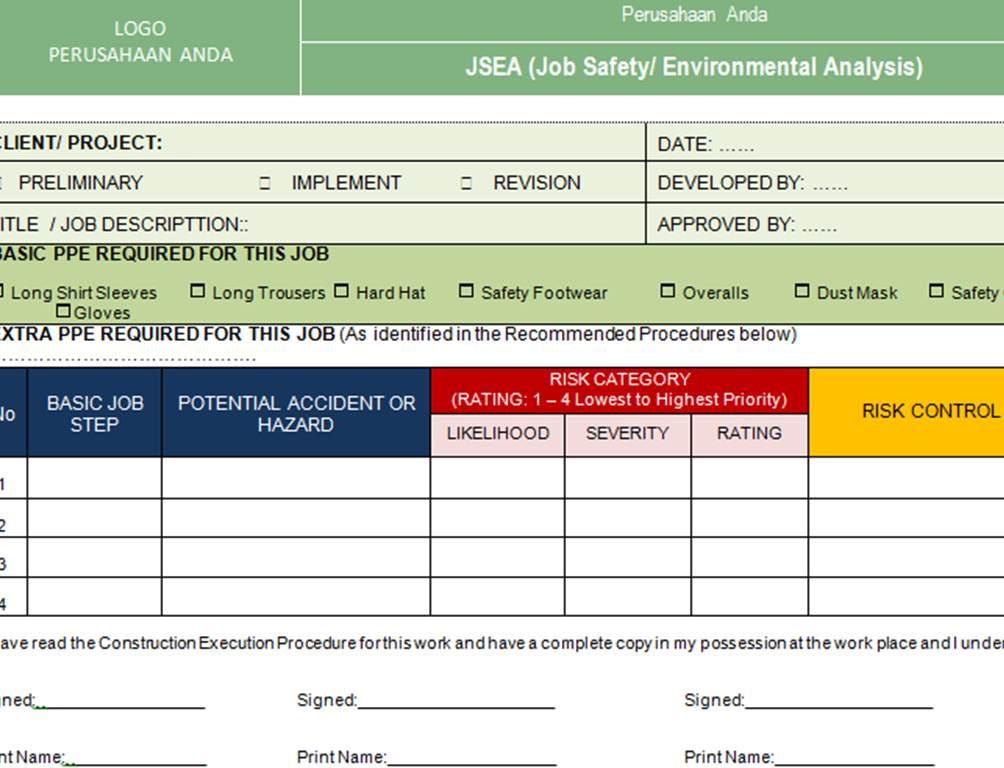 Dokumen Sistem Manajemen: Paket Formulir Kosong (blank form ...