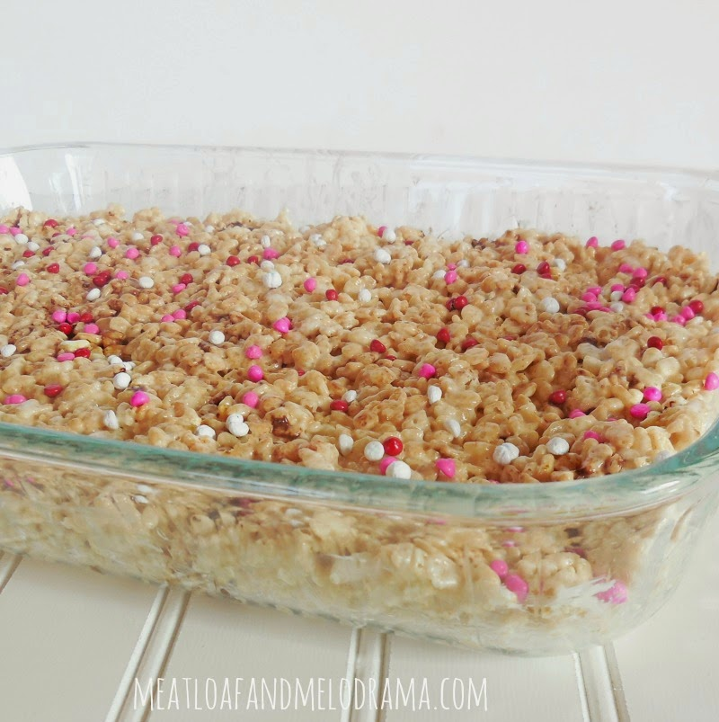 marshmallow rice krispies for valentines day