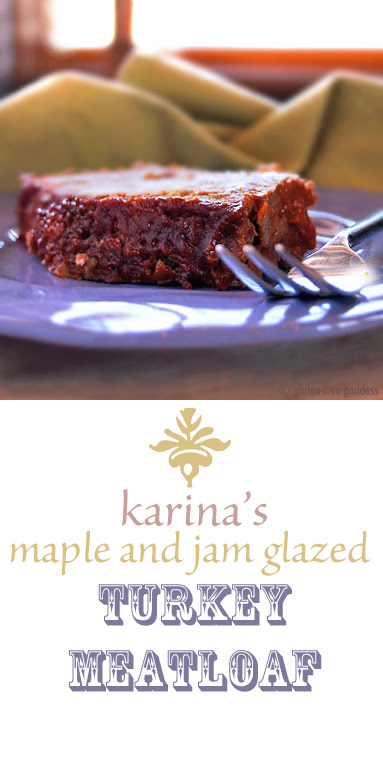 Gluten-Free Goddess Maple + Jam Glazed Turkey Meatloaf recipe. Spike it up with jalapeño pepper jam or keep it homespun. Versatile, flavorful recipe. Family favorite.