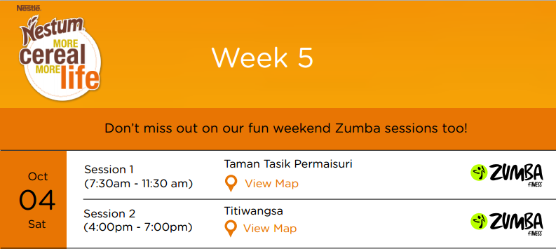 FREE Zumba sessions this coming weekend! Only with Nestum #MoreLife