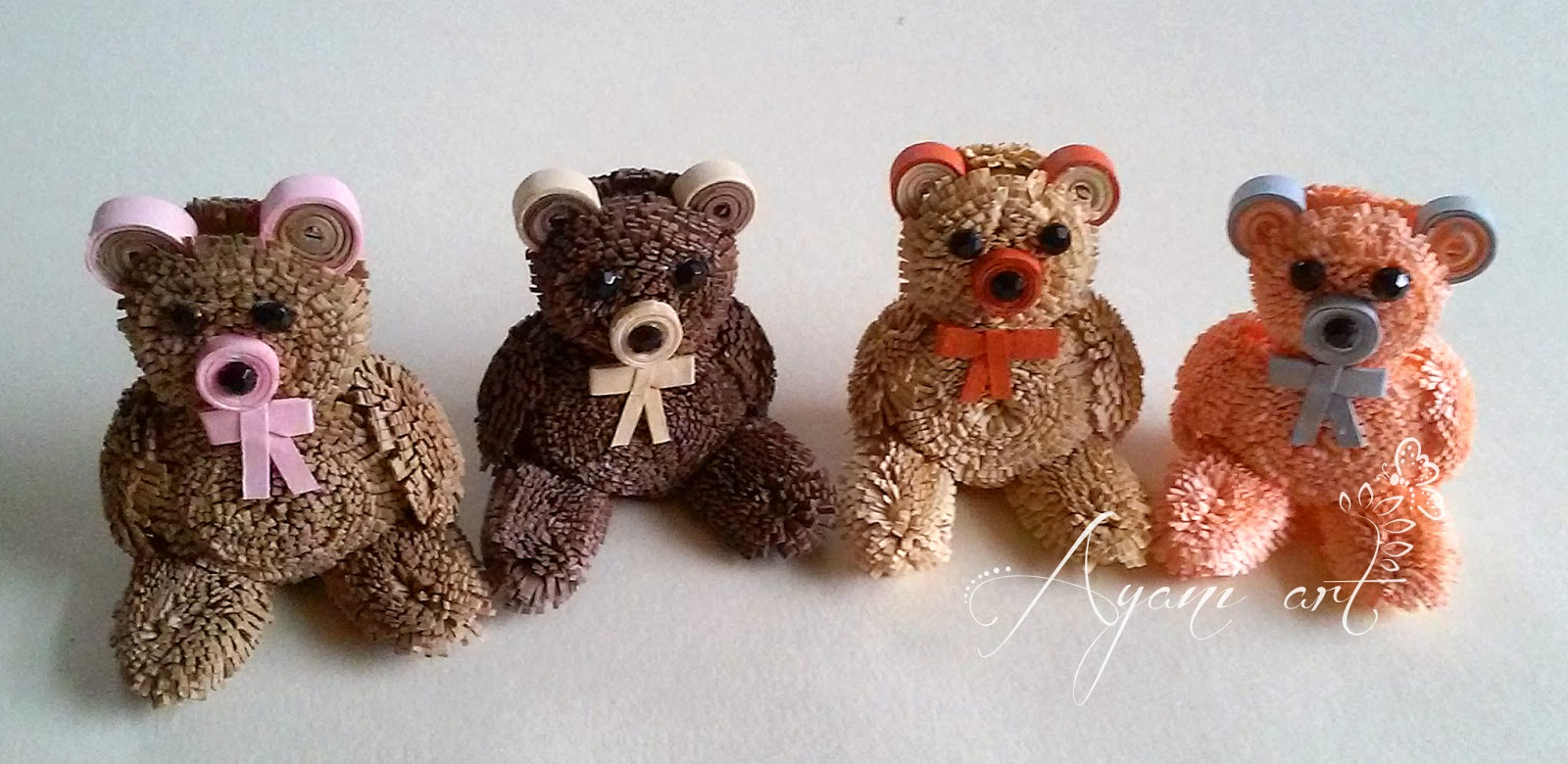 Ayani Art: Quilling Teddy Bears
