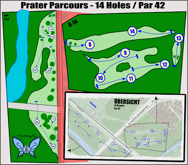 Prater Disc Golf Parcours Plan by Putterfly