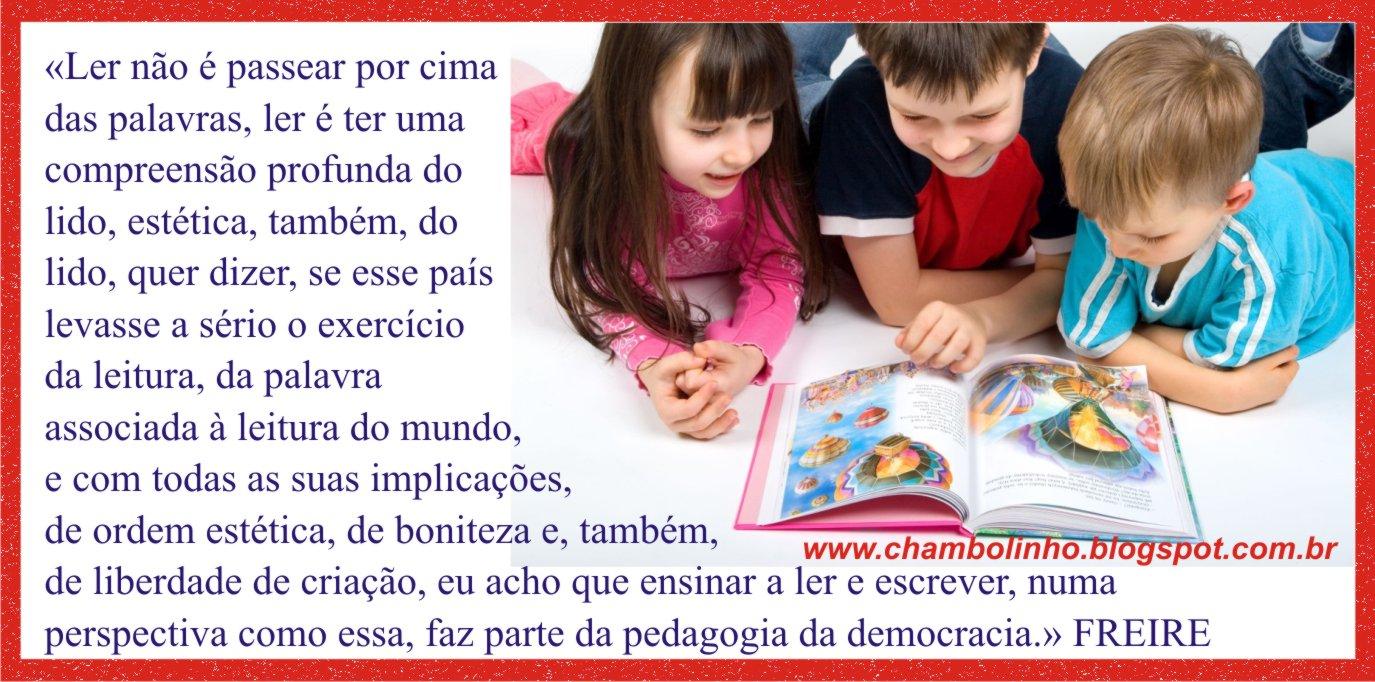 Frase De Paulo Freire Sobre Leitura Para Facebook Chambolinho