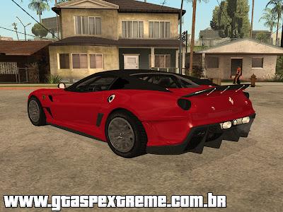 Ferrari 599XX 2010 para GTA San Andreas