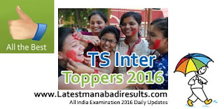 TS Inter 1st year Results Toppers 2016 with Photo, TS Intermediate 1st & 2nd Year Toppers 2016 District wise Ranks List, TS Inter 2nd Year Results 2016 Toppers Name wise photos / College wise, BIETS Inter exams 2016 Toppers list
