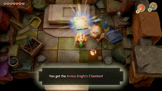 Link receiving the Armos' Knight Chamber from Dampé