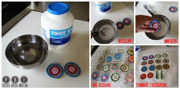 almidonar crochet, como endurecer el tejido, métodos para almidonar