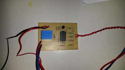 relay components view PCB water overflow controller
