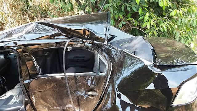 Jovem fica ferido após sofrer acidente próximo ao trevo de Cajobi