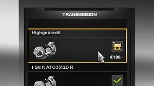 High Gear 6 transmission