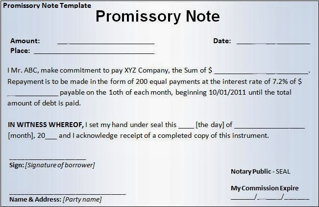 Simple Promissory Note Template Promissory Note Simple