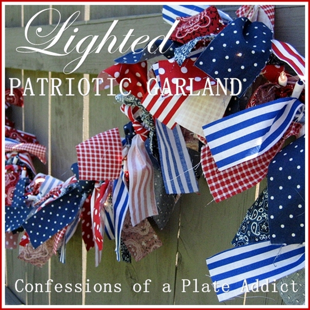 Confessions of a plate addict indooroutdoor lighted patriotic garland indooroutdoor lighted patriotic garland aloadofball Gallery