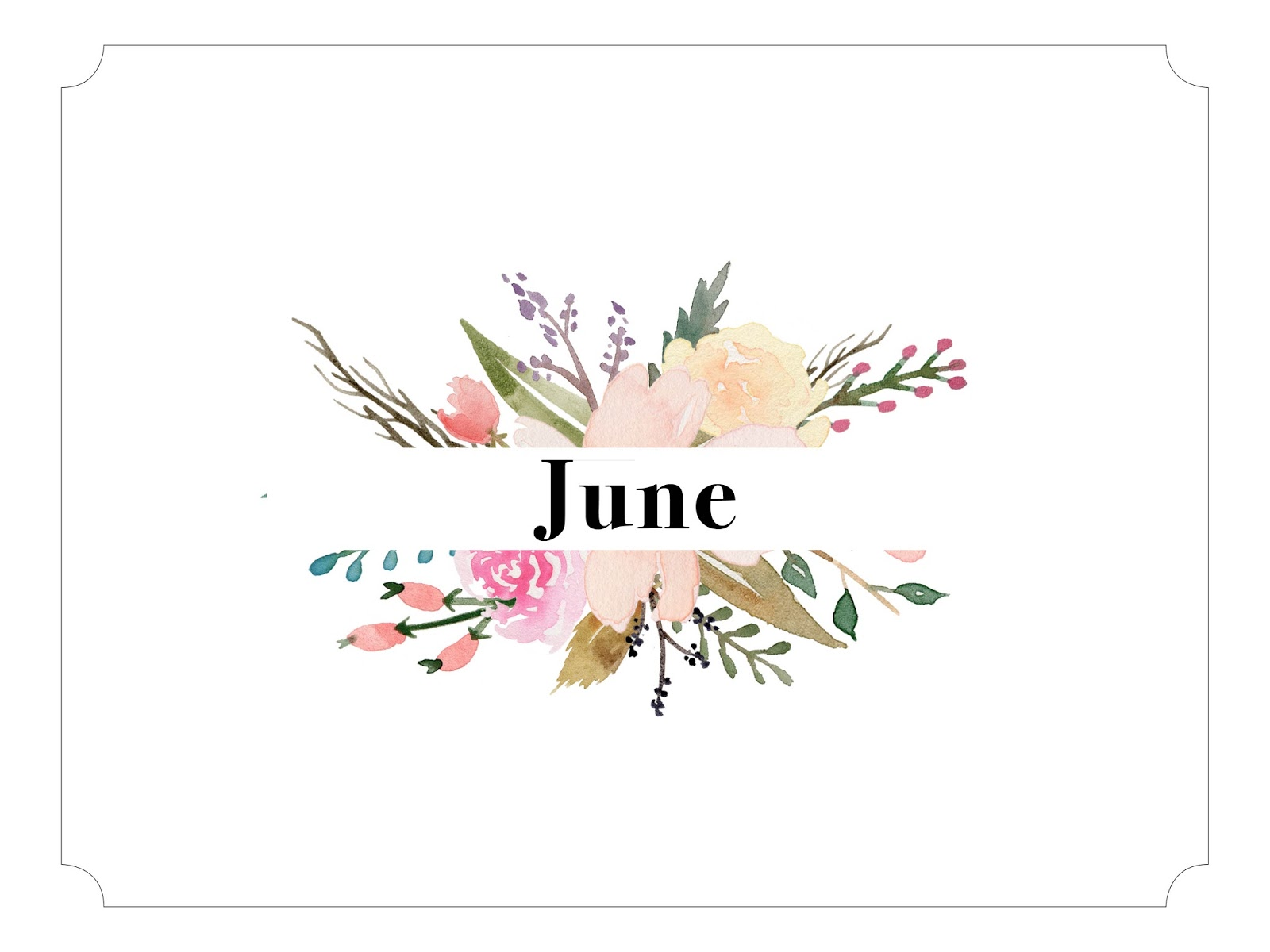 Calendar Background June : June printable calendar and backgrounds oh hey hannah