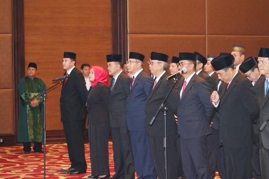 Menkumham Yasonna Lantik PAW 25 Pejabat MPNW dan MKNW di Sumut
