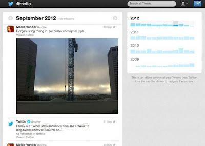 Twitter Tweet Archive Page