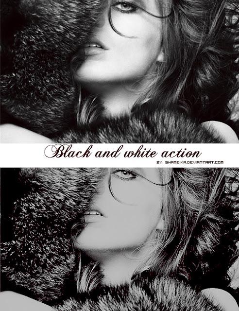 acciones blanco y negro photoshops