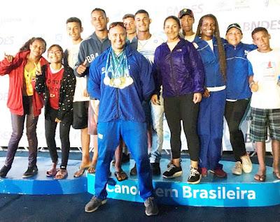 Atletas da Escola Náutica Municipal/Navega São Paulo - Núcleo Ilha entre os melhores do País