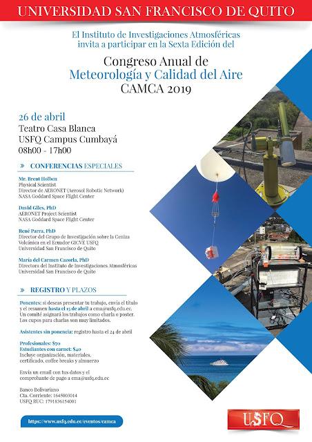 Congreso Anual de Meteorología y Calidad del Aire 2019