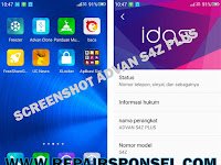 Cara Screenshot Advan S4Z Plus