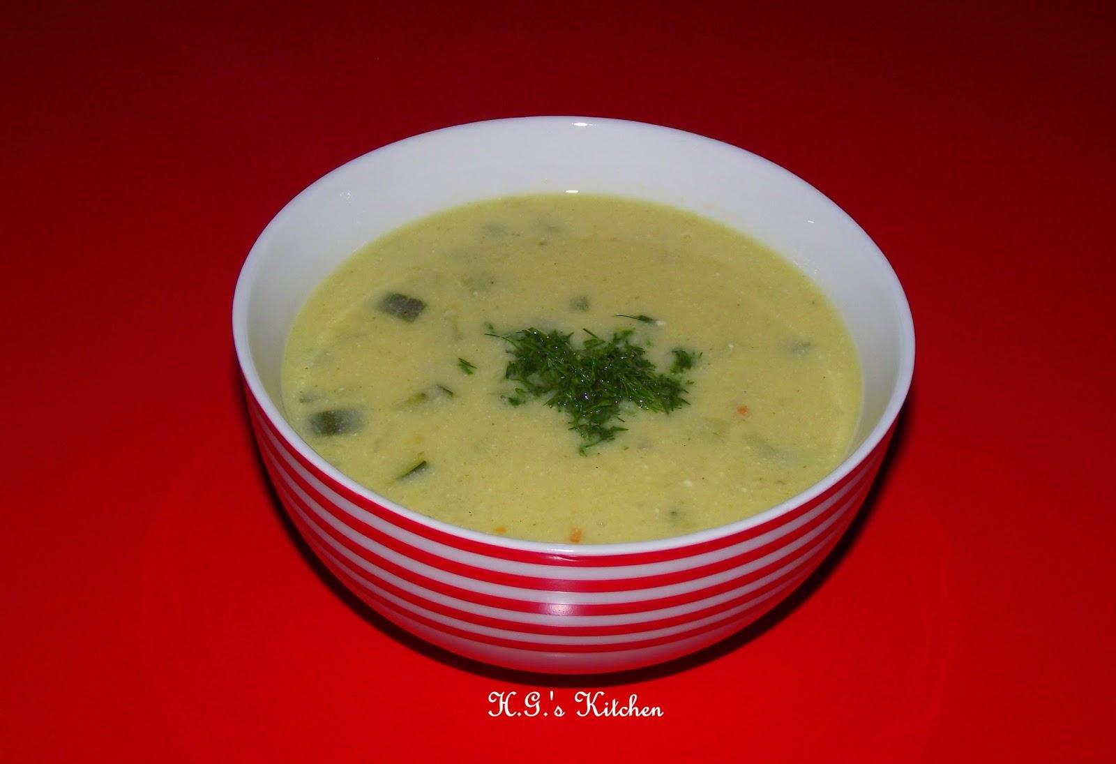Yoğurtlu Kabak Çorbası
