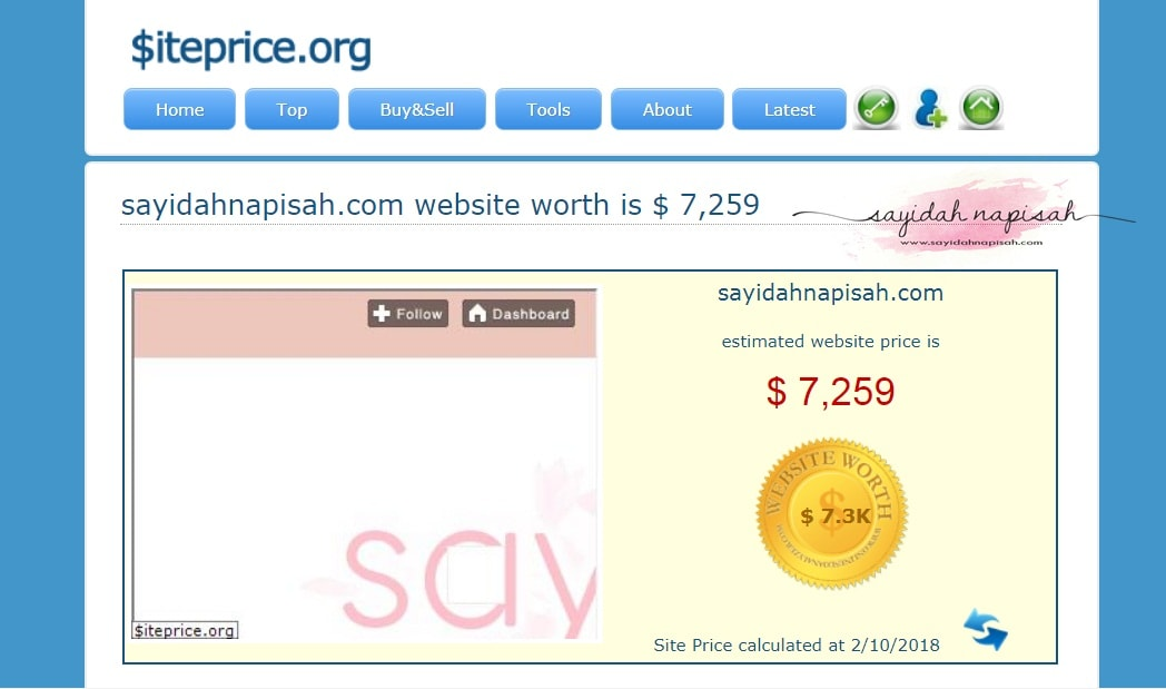 berapakah nilai website & domain anda? jom check!