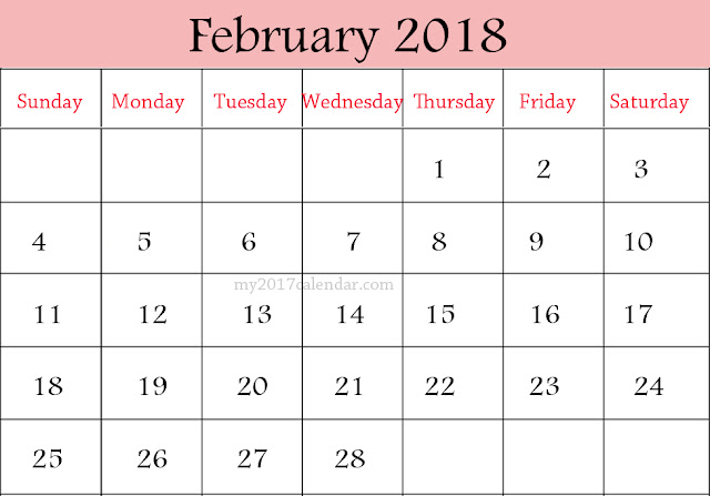February 2018 Printable Calendar, February 2018 Blank Calendar, February 2018 Calendar Template, February 2018 Calendar Printable, February 2018 Calendar. February Calendar 2016, February Calendar, Print February Calendar 2016, Calendar 2018 February, February Templates Calendar 2018