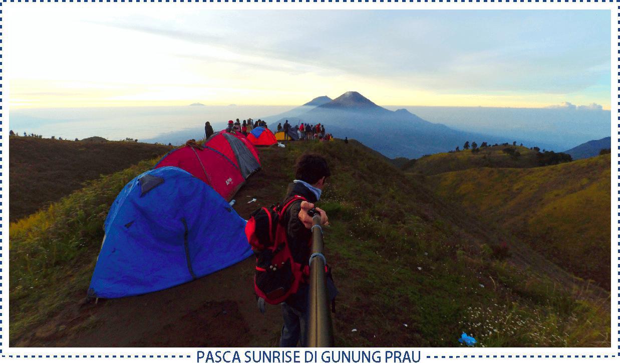 pasca sunrise di puncak gunung prau - pic