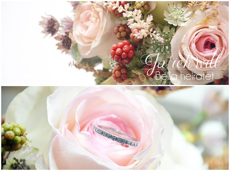 Ehering im Blumengesteck