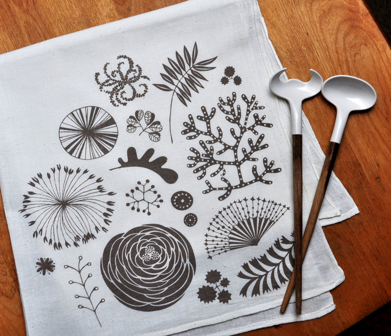 things that make my day: Botanical Tea Towel
