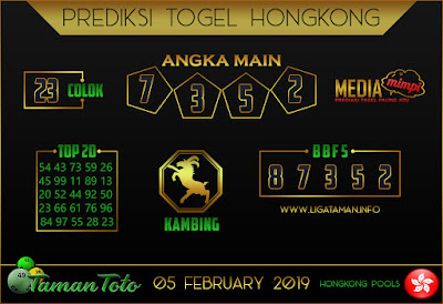 Prediksi Togel HONGKONG TAMAN TOTO 05 FEBRUARI 2019