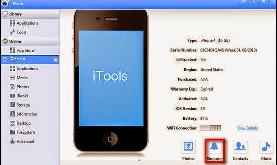 Create ringtone for iPhone with iTools - Tip for Mobile