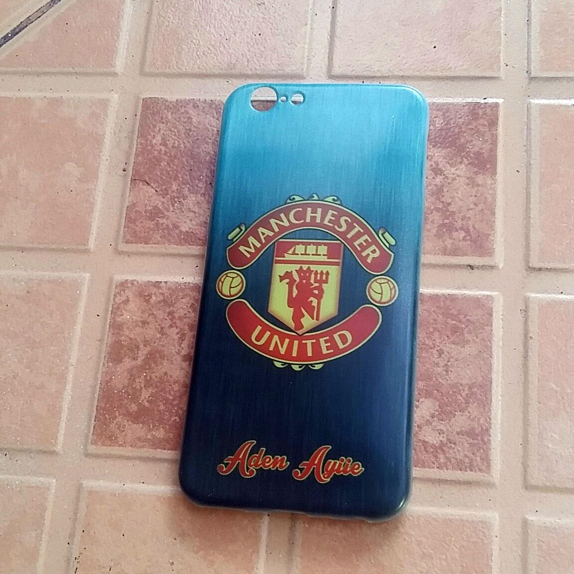 custom case logo Manchester United Keren