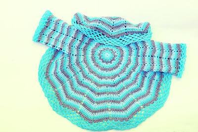 7-Imagen abrigo redondo a crochet y ganchillo. Majovel Crochet