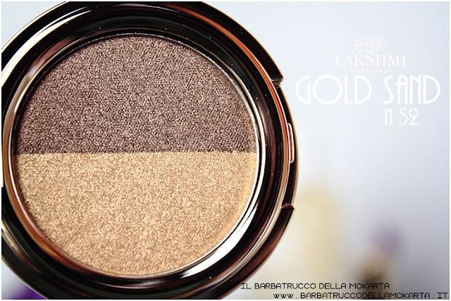 gold sand n 52 eyeshadow ombretti recensione lakshmi makeup vegan ecobio