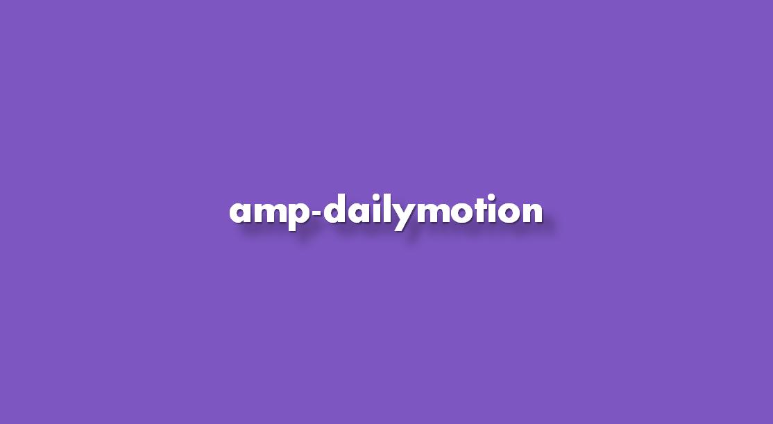 Instrucciones amp-dailymotion