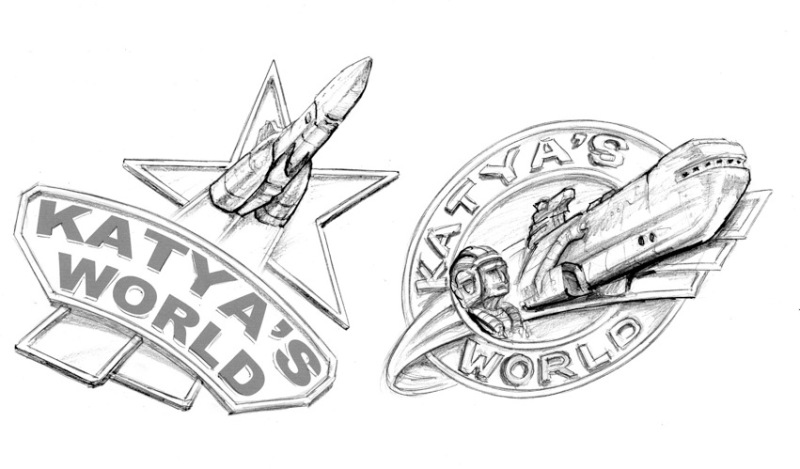Sketched badges